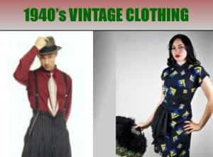 Popular 1940's Vintage Clothing, Top 1940's Vintage Clothes