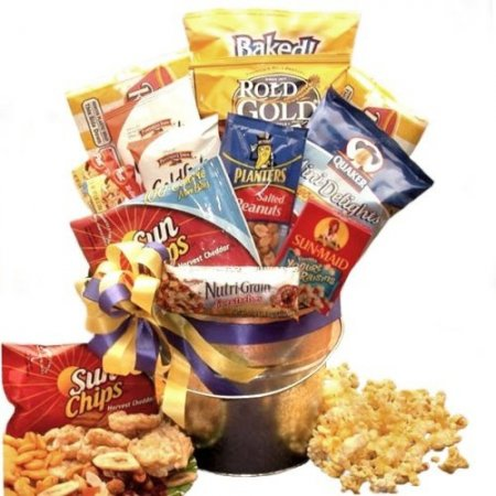Healthy snack food gift basket